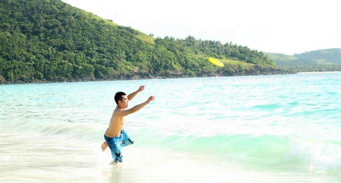 Beach Frisbee Activity