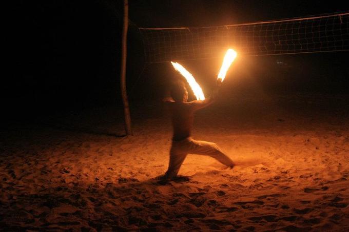 Fire Dancer Calaguas Island