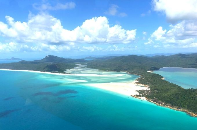 Whitehaven Beach View from Helicopter