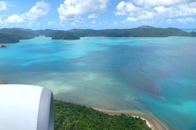 Whitsunday Islands from Plane